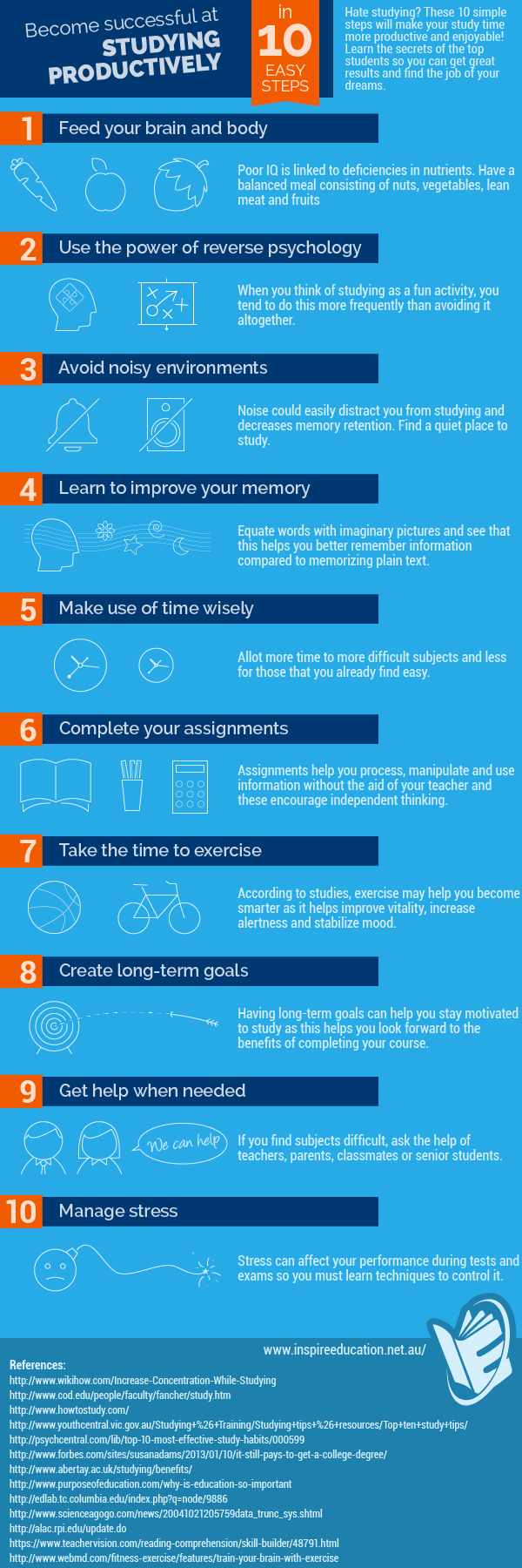 10 Steps To Studying Productively For Students