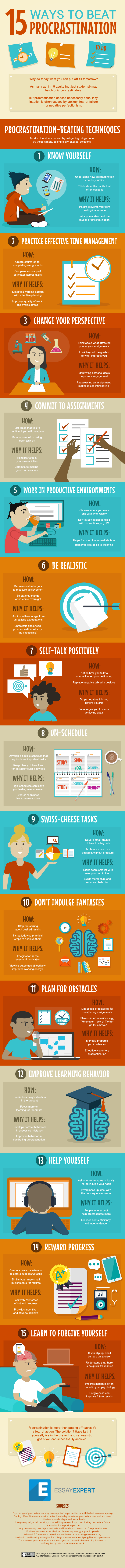 15 Ways Students Can Beat Procrastination