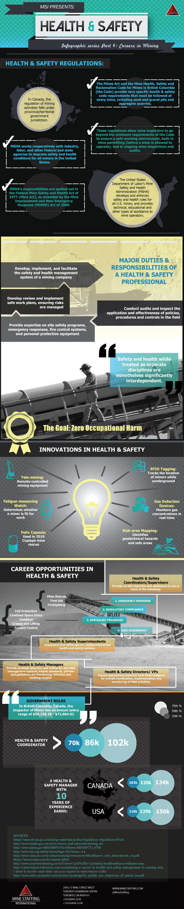 Careers In Health And Safety Infographic