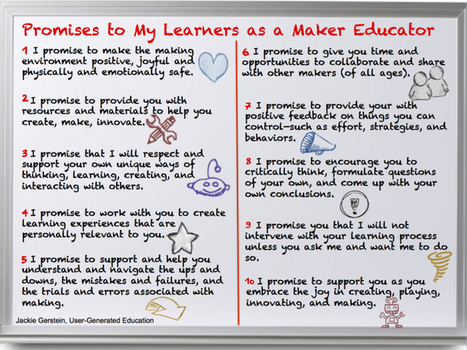 10 Promises To Learners As A Maker Educator